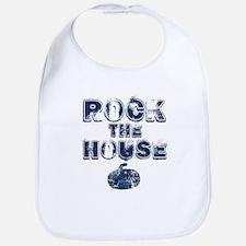 Rock the House Blue Bib