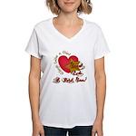 Send Like a Rock Star Women's V-Neck T-Shirt