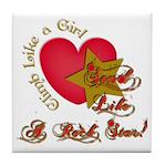 Send Like a Rock Star Tile Coaster
