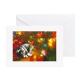Boston terrier christmas Greeting Cards