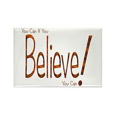 Believe! (Orange) Rectangle Magnet (10 pack)