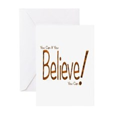 Believe! (Orange) Greeting Card