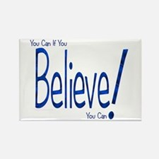 Believe! (blue) Rectangle Magnet