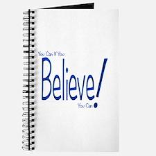 Believe! (blue) Journal