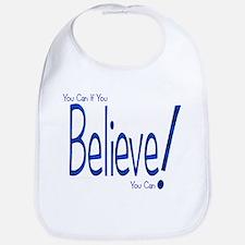 Believe! (blue) Bib