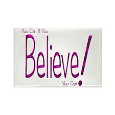 Believe! (purple) Rectangle Magnet