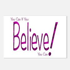 Believe! (purple) Postcards (Package of 8)