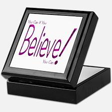 Believe! (purple) Keepsake Box