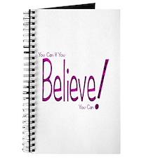 Believe! (purple) Journal