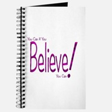 Believe! (purple) Journal