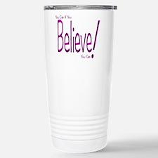 Believe! (purple) Travel Mug
