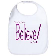 Believe! (purple) Bib