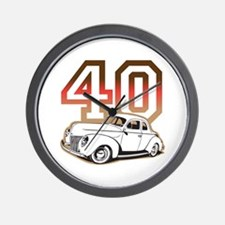 '40 Ford Red/Tan Wall Clock