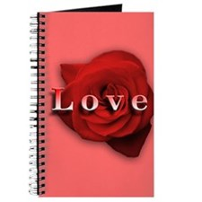 Love Red Rose Journal