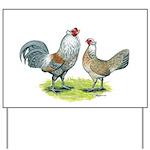 Ameraucana Chicken Pair Yard Sign