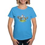 Ameraucana Chicken Pair Women's Dark T-Shirt