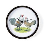 Ameraucana Chicken Pair Wall Clock