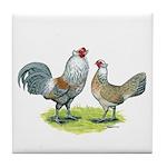 Ameraucana Chicken Pair Tile Coaster