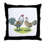Ameraucana Chicken Pair Throw Pillow