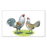 Ameraucana Chicken Pair Rectangle Sticker 10 pk)
