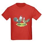 Ameraucana Chicken Pair Kids Dark T-Shirt