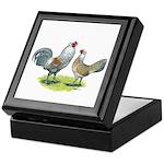 Ameraucana Chicken Pair Keepsake Box