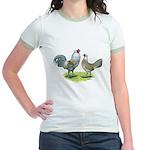 Ameraucana Chicken Pair Jr. Ringer T-Shirt