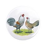 "Ameraucana Chicken Pair 3.5"" Button (100 pack"