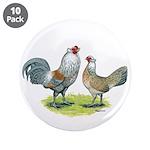 "Ameraucana Chicken Pair 3.5"" Button (10 pack)"