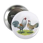 "Ameraucana Chicken Pair 2.25"" Button (10 pack"
