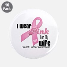"""Breast Cancer Wife 3.5"""" Button (10 pack)"""