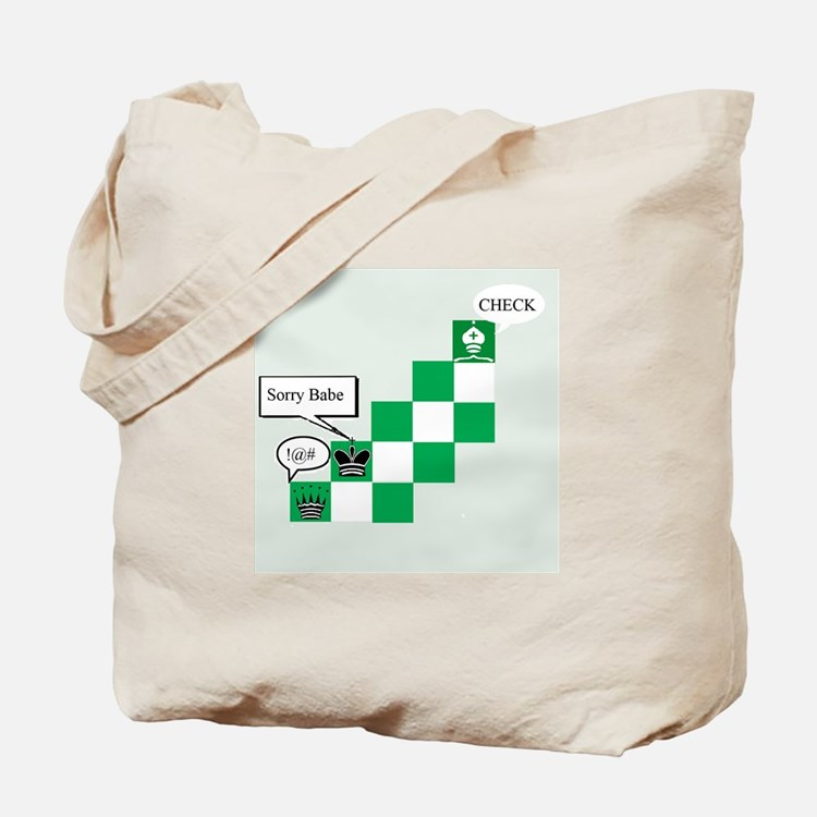 Cute Funny chess Tote Bag