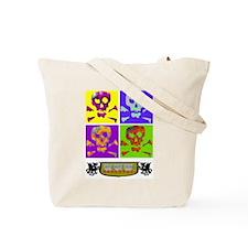 Colorful Skull & Crossbones Tote Bag