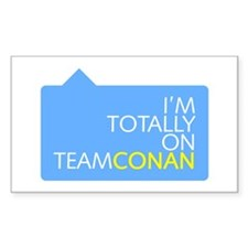 Totally On Team Conan Rectangle Decal