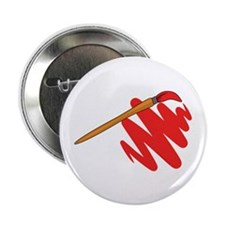 """Paintbrush Red 2.25"""" Button (10 pack)"""