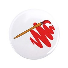 """Paintbrush Red 3.5"""" Button (100 pack)"""