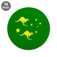 "Australia roo and Southern Star 3.5"" Button (10 pa"