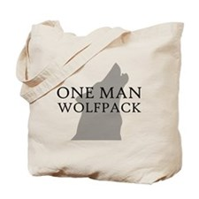 One Man Wolf Pack Tote Bag