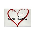 Love Sucks Rectangle Magnet (10 pack)
