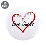 "Love Sucks 3.5"" Button (10 pack)"