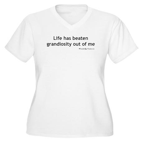 Crushed Women's Plus Size V-Neck T-Shirt