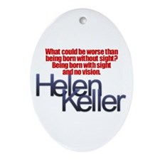 Helen Keller Oval Ornament