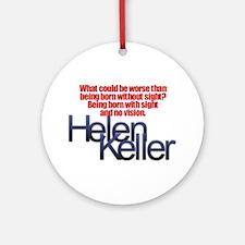 Helen Keller Ornament (Round)