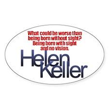 Helen Keller Oval Decal