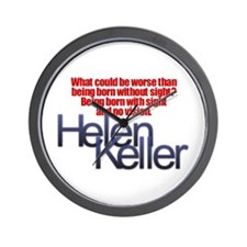 Helen Keller Wall Clock