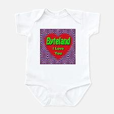 Byteland I Love You Infant Bodysuit