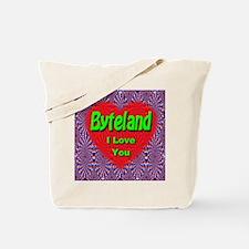 Byteland I Love You Tote Bag