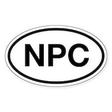 NPC Oval Decal