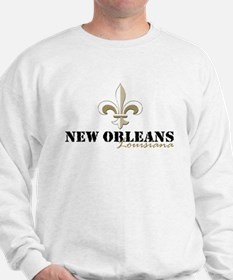 New Orleans, Louisiana gold Sweatshirt