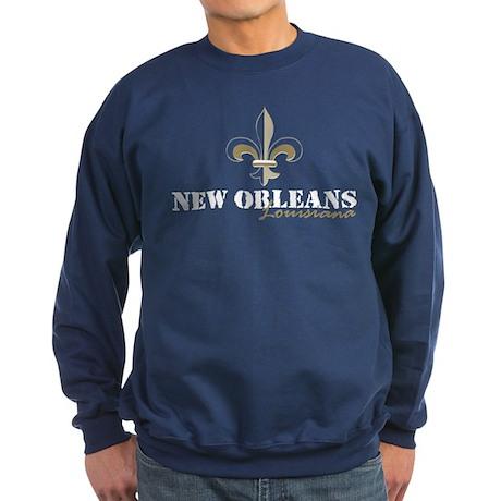 New Orleans, Louisiana gold Sweatshirt (dark)